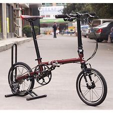 "Fnhon CR-MO Steel Folding Bike 16""  Mini velo Urban Commuter Bicycle 9s V Brake"