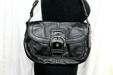 Coach Soho Hobo Black Leather Buckle  Handbag Purse