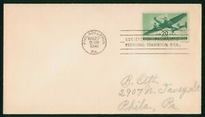 MayfairStamps US FDC Unsealed 1941 Airmail Series 20 Cents First Day Cover wwr12