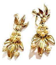 boucles d'oreilles à vis cristaux diamant ancien bijou vintage couleur or * 2911