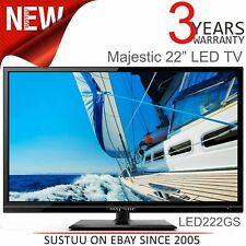 "Majestic 22"" 12V HD LED TV│Global Tuner│DVD│USB│For Caravan/ Marine│MJLED222GS"