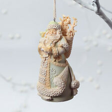 Santa with Basket 4in Enesco Foundations resin stone Christmas ornament 4026896