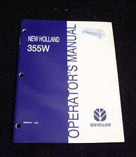 Original New Holland 355W Windrow Pickup Attachment Operators Manual Mint