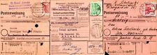 Berlín 1949 52,54,56 einzelfrankaturen en giro postal (z8116