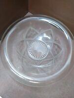 """Vintage Etched Floral Crystal Centerpiece Bowl 12"""""""