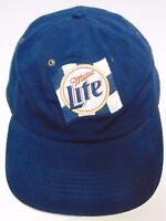 MILLER LITE BEER Brewing Advertising RACING CHECKERED LOGO Baseball Hat Cap