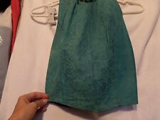 VINTAGE Suede Green Top Small PHOENIX outerwear leather TEAL Snap enclosures