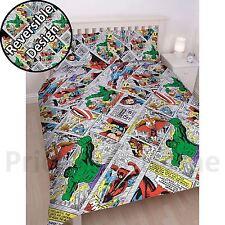 Marvel Comics Rétro Set Housse de couette double réversible literie enfant