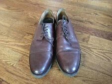 ZARA MAN Men's Brown Leather Dress Shoes Cap Toe Size 43
