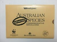1992 ENDANGERED SPECIES WESTPAC Collection of Medals in Booklet (3233111C9)