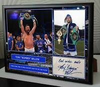 Tony Bellew Framed Canvas Print Signed
