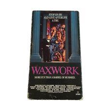 Waxwork VHS Vestron 1988 Horror Gore Zach Galligan Vintage Video Tape Movie 80s