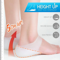 Concealed Footbed Enhancers Invisible Height Increase Silicone Insoles Pads
