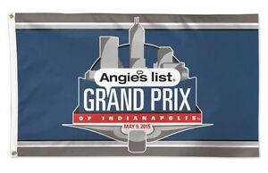 2015 Angies List Grand Prix Of Indianapolis Event Collector Flag Banners IndyCar