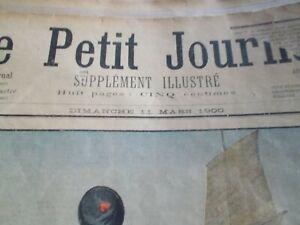 le petit journal année  1900  supplément hebdomadaire illustré en couleur