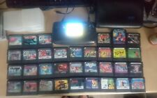 Sega Game Gear with McWill screen recapped and 34 games and case