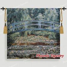 "Claude Monet The Japanese Bridge Fine Art Tapestry Wall Hanging, Large, 55""x52"""