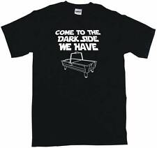 Come To the Dark Side We Have Air Hockey table Logo Mens Tee Shirt Pick Size