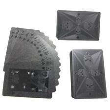 Schwarze Spielkarten matt Totenköpfe Schädel dunkle Magie Poker Karten Glänzend