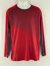 Pennant Sportswear Athletic Striped Red Long Sleeve Pullover Tee Men Medium