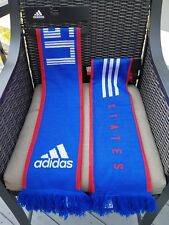 NEW Adidas Team USA Scarf Striped Red White Blue Soccer Olympics World Cup Flag