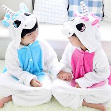 Enfants Pyjama Licorne Flanelle Cosplay Animal Déguisement Fille Garçon Hiver