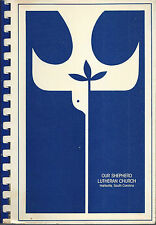HARTSVILLE SC 1987 OUR SHEPHERD LUTHERAN CHURCH COOK BOOK * SOUTH CAROLINA RARE