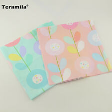 Light Pink and Blue Cotton Fabric Quilting Bedding 2 Pieces 40cmx50cmTeramila