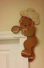 HP Hand Painted Gingerbread BOY Door Hugger, Gingerbread Decor