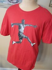 Men's Air Jordan Photo Iconic Flight Dept Jumpman Logo Tee Shirt Size XXL RARE