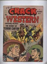 CRACK WESTERN 81  Awsome Skeleton Army cover quality golden age comic 1