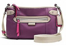 New COACH Daisy Spectator Leather Swingpack Purple F49516 HANDBAG PURSE