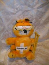 VINTAGE DAKIN 1981 GARFIELD PLUSH CAT JIM DAVIS HOSPITAL GET WELL CRUTCHES