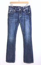 MissMe Jeans Fleur De Lis Bootcut Limited Edition Silver Sequin JV848582 W30 L34