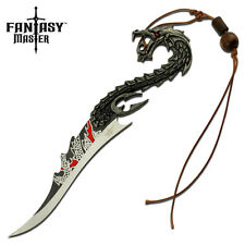 "FANTASY MASTER 8"" Dragon Sword Fixed Blade Knife With Tassel and Stand BRAND NEW"