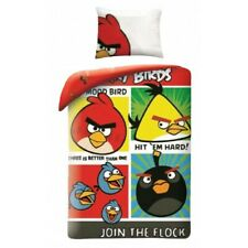 Set Bed Angry Birds Join Tee Flock Duvet Cover 160x200 Cotton