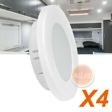 4X12V 70mm LED Recessed Cabinet Down Light RV Caravan Camper Trailer Dome Lamp