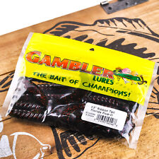 """PICK GAMBLER LURES Giggy Stick Finesse Hollow Tube Tail Soft Worm Bait 5/"""" 10ct"""