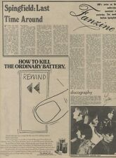 M14/9/74PM58 Buffalo springfield : Last time around Article & Picture(s)
