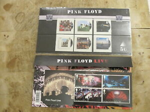 2016 GB Stamps presentation Pack - Pink Floyd set & Live mini sheet