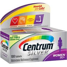 Centrum Argent Femme Multivitamine Multiminéraux Vitamine D3, An 50+ 100 Tablets