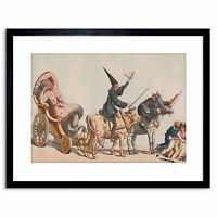 Satire 1800 Anonymous Triumph Of The Small Pox Small Framed Art Print 9x7 Inch