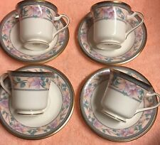 Noritake EMBASSY SUITE; Cups and Saucers, Set of 4, Beautiful!!! EUC!!!
