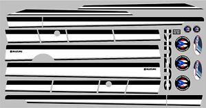 SUZUKI SAMURAI DECALS LINES STICKERS CALCOMANIAS GRAFICAS BLACK AND WHITE
