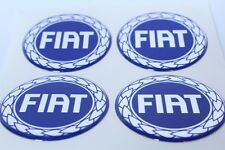 NEW 4pcs Silicone Stickers for Wheel Centre Cap Hubs for FIAT - 60mm