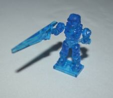 HALO SERIES 5 UNSC SPARTAN TRANSLUCENT BLUE WITH BEAM RIFLE ULTRA RARE LOOSE
