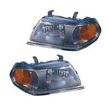 Headlights Pair Set for 00-04 Mitsubishi Montero Sport (Chrome) Left & Right