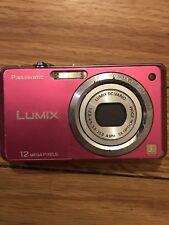 "Panasonic Lumix DMC-FH1 12.1 MP Digital Camera 5x Stabilized Zoom 2.7"" LCD Pink"