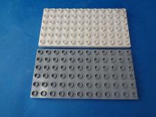 Lego DUPLO 2 BAUPLATTE 6 x 12 WEIß+HELL GRAU 72 NOPPEN 10835,10836 HAUS NEU DP