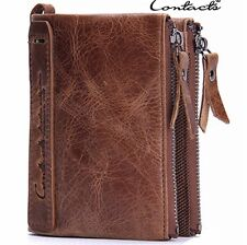 Men's Real Leather Wallet - Coin Pocket -Trifold - E24
